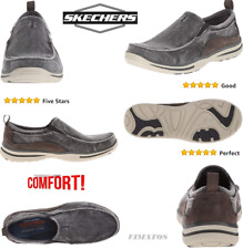 Men's Canvas Relaxed Fit Elected Drigo Slip-On Loafer,US 13 DM,Charcoal