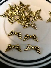 20 8x20mm Gold Bali Style Angel Wings L@@K SALE #48