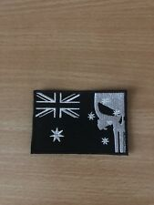 Black Punisher Australia Flag Patch