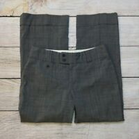 Banana Republic Jackson Dress Pants Size 8P Petite Womens Glen Plaid Wool Gray