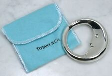 Genuine TIFFANY & CO. 925 Sterling Silver Crescent Man in the Moon Baby Rattle
