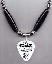 Rascal Flatts Joe Don Rooney Signature White Guitar Pick Necklace - 2012 Tour