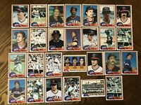 1981 CLEVELAND INDIANS Topps COMPLETE MLB Team SET 27 Cards CHARBONEAU HARGROVE