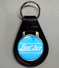 Reproduction Vintage 60s SnoJet Snowmobile Logo Medallion Leather Keychain