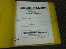 Brush Bandit 86 Brush Chipper Parts Catalog & Owner Operator Maintenance Manual