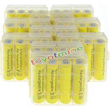 40 pcs AA 3000mah NiMH 1.2v Yellow Rechargeable Battery+10 pcs Plastic case