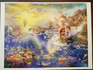 Thomas Kinkade Disney's The Little Mermaid 500 piece jigsaw puzzle  **No Box**