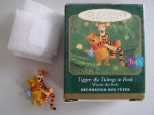 "Hallmark Miniature Ornament ""Tigger-Ific Tidings To Pooh"" 2000 W/Box&Tag"