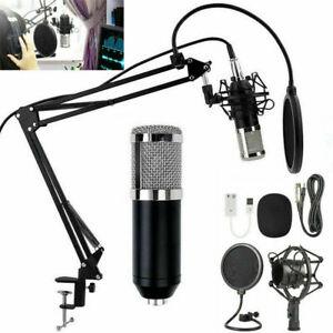 BM800 Condenser Microphone Professional Studio Vocal Recording Mic Stand Kit