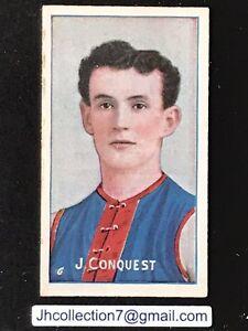 1909 SNIDERS CIGARETTE CARD AUSTRALIAN FOOTBALLERS J CONQUEST MELBOURNE