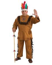 Men's Plus Size Native American Warrior Indian Costume Western