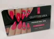 Nail tips acrylic gel Glitterama Nails Almond well-less