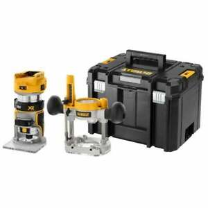 "Dewalt DCW604NT-XJ 18V Cordless XR Brushless 8mm (¼"") Router Body Only"