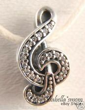 SWEET MUSIC NOTE Genuine PANDORA Silver/CLEAR CZ STONES Charm/Bead 791381CZ NEW