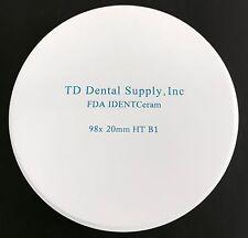 Single Shade HT Zirconia Disc (98.5 x 20mm) (HIGH TRANSLUCENCT)