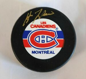 Guy LaFleur Montreal Canadiens Signed Hockey Puck JSA Authenticated
