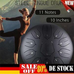 """Stahlzungentrommel Handpan 10"""" 11 Töne Steel Tongue Drum Hoch Mit Tasche Hammer"""