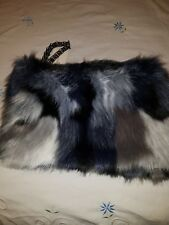 PRIMARK  LADIES WRIST FUR CLUTCH BAG FOR BEAUTIFUL LADIES OUTING OR FOR OCCASION