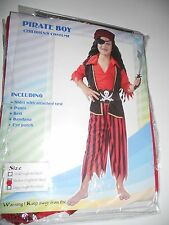 PIRATE BOY FANCY DRESS COSTUME PAMS AGED 5 - 7  YEARS MED 5108
