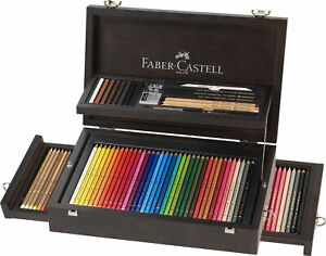 Faber-Castell Art & Graphic Holzkoffer - COMPENDIUM 125-teilig