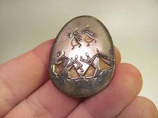 *Vintage Silver Tone Artisan M Katz Figure Pin Brooch Pendant Jerusalem 86-87