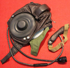RARE Flight Helmet Air Force Mig-15 Fighter Pilot Leather SIZE:2 # XXL