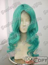 65cm long BLUE GREEN CURLY WAVY cosplay WIG punk lolita SAILOR NEPTUNE costume
