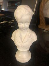 Andrea by Sadek Figurine Bust Woman White Head Women Ceramic Piano Book Display