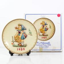 "Goebel M. J. Hummel 14Th Annual 7.5"" Plate 1984 Hum 277 Little Helper Girl Apple"