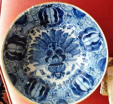 Antique late 17th C. blue-white Delft plate Cornelia Lysbeth van Shoonhoven