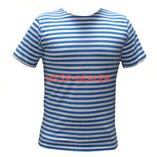 RUSSIAN LIGHT BLUE GENUINE STRIPED PARATROOPER T-SHIRT TELNYASHKA TOP ALL SIZES