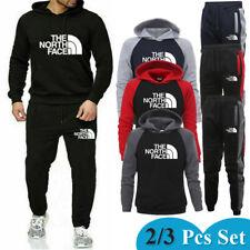 2/3PCS Men's Tracksuits Set Hoodie Sweatshirts Joggers Pants T-Shirts Bottoms UK