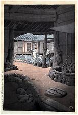 Chii Mountain Senon Temple by Kawase Hasui ORIGINAL Woodblock Print