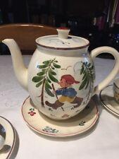 Service à Café Porcelaine Villeroy et Boch  Vintage  1950 Peint Main