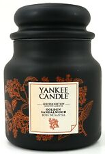 New Yankee Candle European Exclusive Golden Sandalwood 14.5oz/ 411g Jar Candle