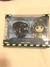 Hot Toys Cosbaby-Aliens: Alien Warrior/Marine Figuras. nuevo Y Sellado