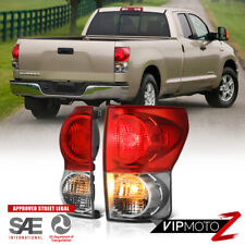 For 07-13 Toyota Tundra FACTORY STYLE Red Lens Rear Brake Tail Light LEFT+RIGHT