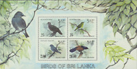 Sri Lanka, Scott #691-694, Birds S/S