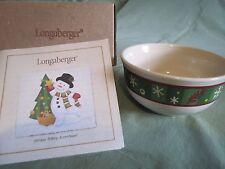 Longaberger = Holiday Snowflake Bowl = New
