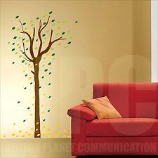 wall sticker albero 108 foglie 4 stagioni natura adesivo murale parete deco art