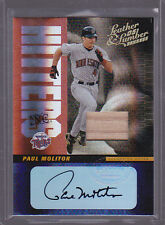 2005 Leather and Lumber Hitters Inc. Signatures Bat #16 Paul Molitor Auto 08/10