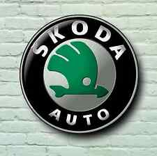SKODA LARGE 2FT GARAGE WALL SIGN PICTURE LOGO VEE DUB FABIA SUPURB OCTAVIA VRS