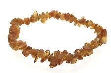 Brandy Citrine Gemstone Crystal Chip Bracelet