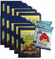 ANGRY BIRDS SPACE AUTOCOLLANT COLLECTION 10 PAQUETS + 2 BONUS PACKS DE