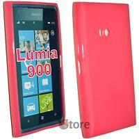 Cubierta De La Caja Para Nokia Lumia 900 Fucsia Pastel Gel Silcone TPU