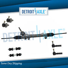 Complete 7pc Power Steering Rack and Pinion Suspension Kit for Chevy Pontiac FWD