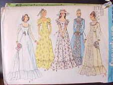 Butterick 6888 Sewing Pattern Gunne Sax Victorian Vintage 1970 Wedding Dress 6 8