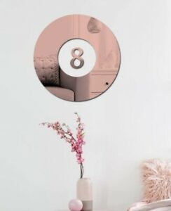 """NEW 12"""" Rose Gold Mirror Surface 3D Pool 8 Ball Billiards Acrylic Wall Sticker"""