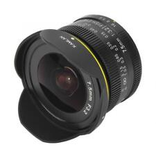 7.5mm F3.2 Fixed-focus Large Aperture Fisheye Wide Angle Mirrorless Camera Lens