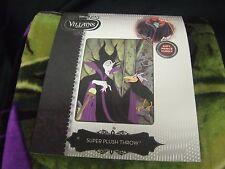 "NWT Disney Maleficent Evil Witch Crow Sleeping Beauty Plush Throw Blanket 48x60"""